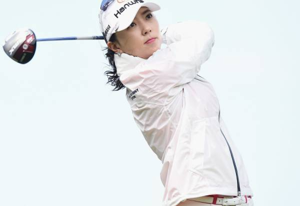 ユン・チェヨン 2L判写真1枚 女子ゴルフ ⑤