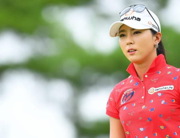 ユン・チェヨン A4判写真1枚 女子ゴルフ ⑤