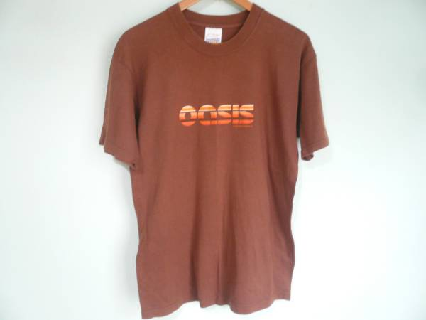 ビンテージ OASIS オアシス オフィシャル Tシャツ 茶 ブラウン / 90s 00s OLD ロック バンド