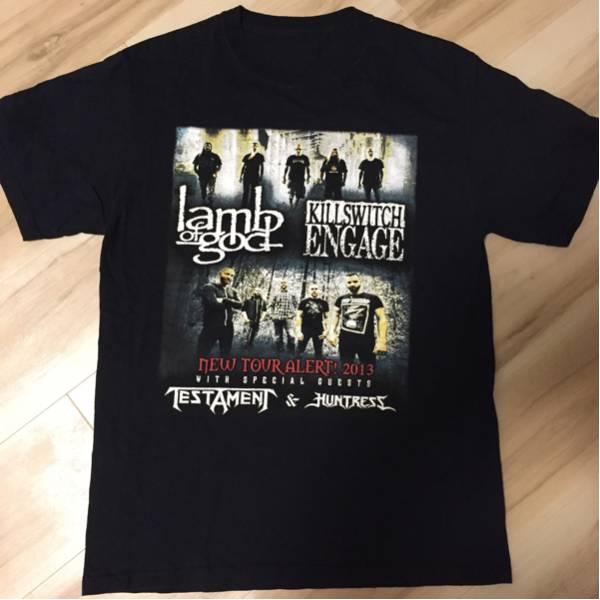 lamb of god/TESTAMENT/HUNTRESS NEW TOUR ALERT!2013 Tシャツ 黒 KILLSWITCH ENGAGE