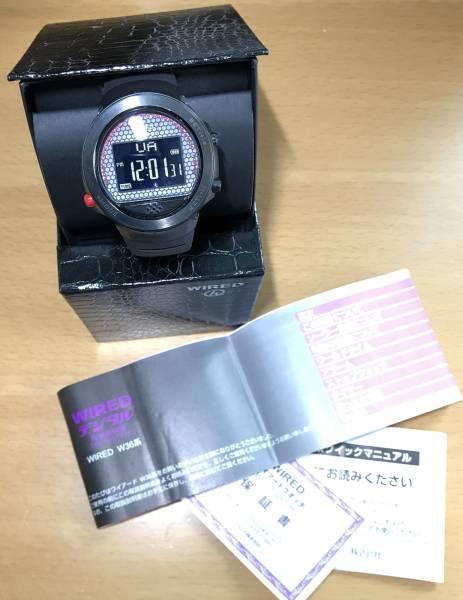 SEIKO Wired h x United Arrowsコラボ限定品のソーラー電波デジタル時計W360C(ベルトは新品!)