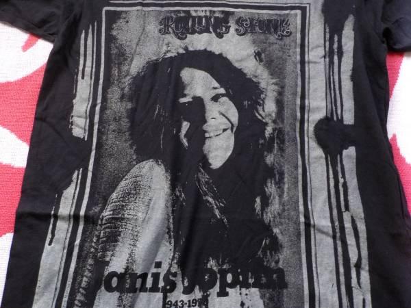 ジャニス・ジョプリン★ローリングストーン誌のジャニス半袖Tシャツ(M・黒)