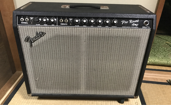 fender pro reverb black face conversion silver face オーバーホール済み フェンダー トモ藤田 RCA プロリバーブ 美品 クリーントーン