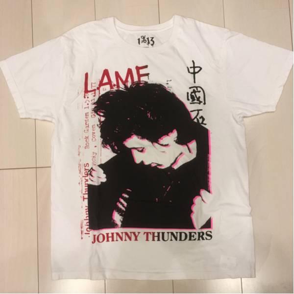 美品 1%13 JOHNNY THUNDERS ジョニーサンダース Tシャツ S.D.S delta gloom order cfdl zyanose crust disclose discharge shitlickers