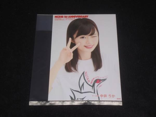 NGT48 1ST ANNIVERSARY 1周年記念 DVD 先行予約特典 外付け 生写真 中井りか ライブグッズの画像