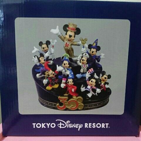 新品 貴重 30周年 ディズニーランド フィギア Happiness ハピネス ミッキーマウス ミッキー  ディズニーグッズの画像