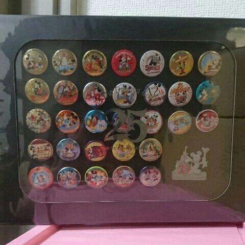 新品 貴重 25周年 ディズニー コレクションBOX 缶バッジ ミッキー ディズニーランド  ディズニーグッズの画像