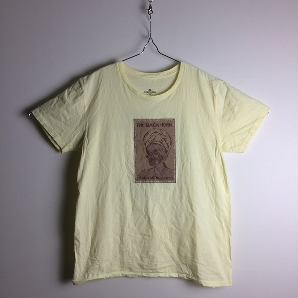 【THE BACK HORN ザ・バックホーン】2008年ツアー物販★半袖Tシャツ/バンドTシャツ XL★KYO-MEI/淡イエロー