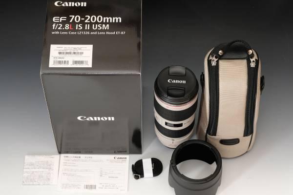 新品同様 キャノン CANON EF 70-200mm F2.8 L IS II USM 2017年3月新品購入