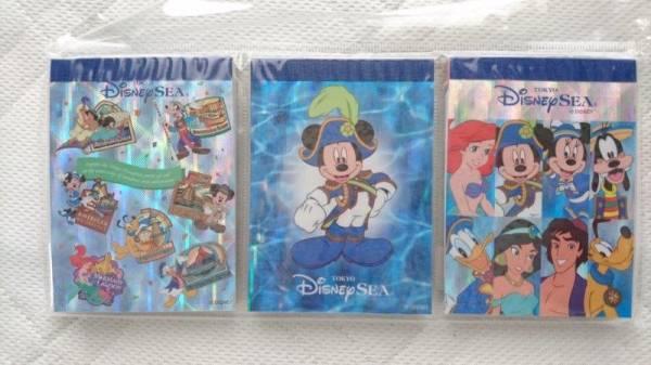 ディズニーシー メモ 3種セット-3 新品 ミッキー ディズニーグッズの画像