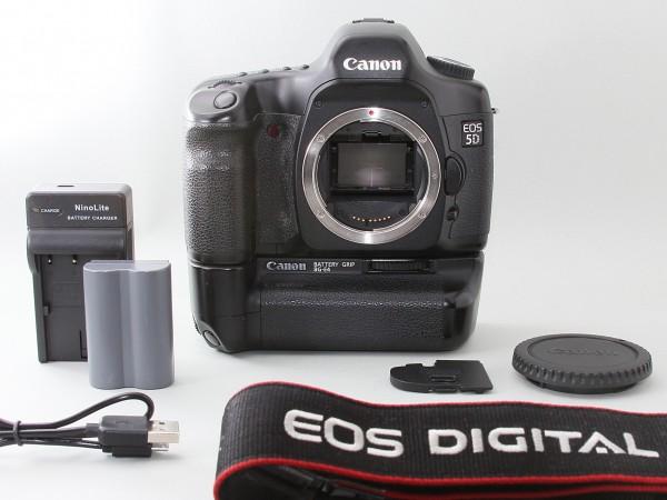 ★美品★ Canon キャノン EOS 5D BG-E4 バッテリーグリップ付 フルサイズ #E10-10vii