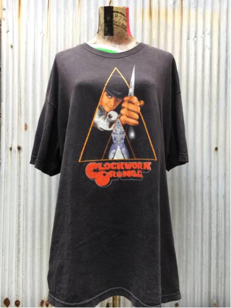 時計じかけのオレンジ Tシャツ ブラック XL ビンテージ プリント 90s ロッキーホラー 両面 ビックサイズ レア スタンリーキューブリック