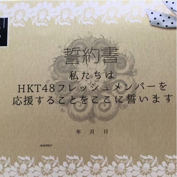 HKT48 フレッシュコンサート 誓約書 無記名 ライブグッズの画像