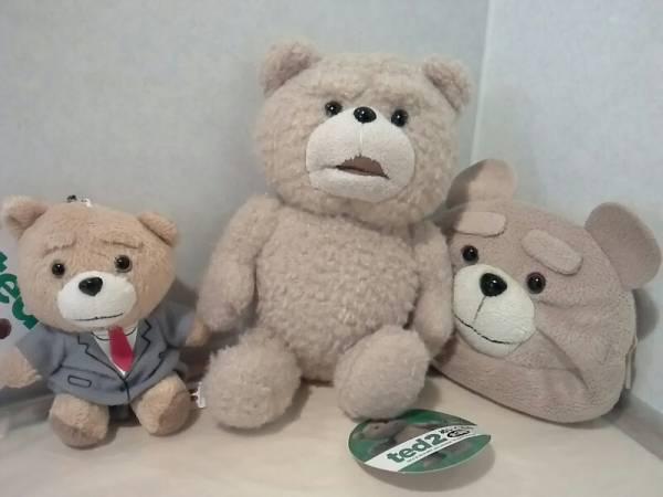 TED2 テッド2 ☆ぬいぐるみマスコット2種+ポーチ グッズの画像