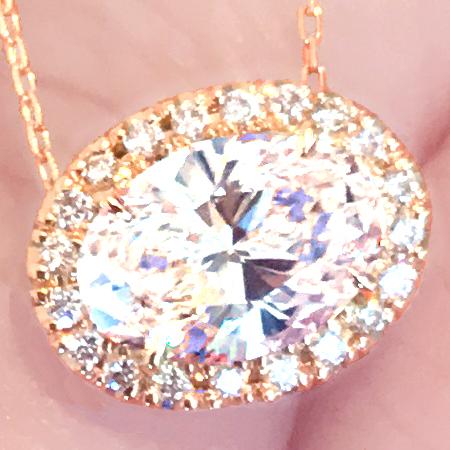 《DIAMOND》K18PG ダイヤ ネックレス 1.05ct!!VSクラス 最高の輝き!《