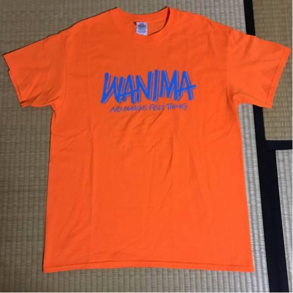 廃番 WANIMA ピザロゴ入りバンドTシャツLオレンジ ワニマ pizza of death レア ライブグッズの画像