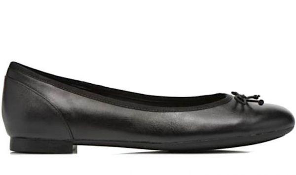 送料無料 Clarks 23cm フラット レザー ブラック 黒 バレエ シューズ ローファー ロー ヒール クラシック パンプス ブーツ サンダル 802_画像2