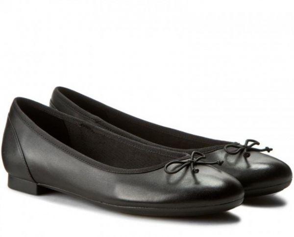 送料無料 Clarks 23cm フラット レザー ブラック 黒 バレエ シューズ ローファー ロー ヒール クラシック パンプス ブーツ サンダル 802_画像1