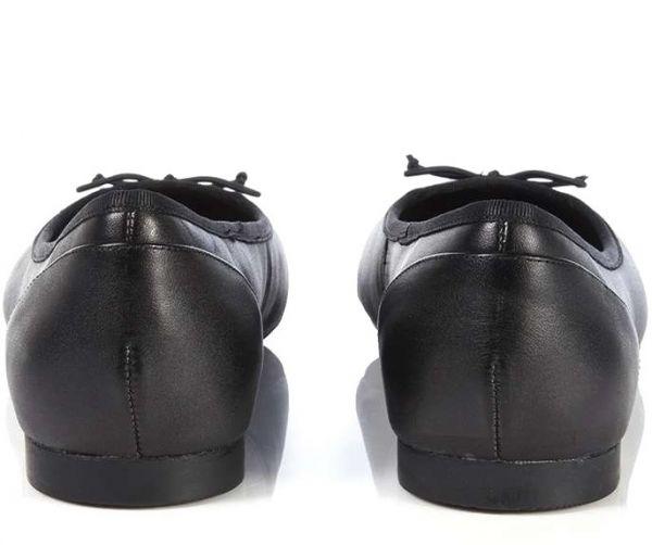 送料無料 Clarks 23cm フラット レザー ブラック 黒 バレエ シューズ ローファー ロー ヒール クラシック パンプス ブーツ サンダル 802_画像3