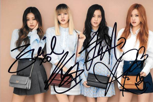 16.9★BLACK PINK★全員直筆サイン入り St.Scott公式宣伝写真464