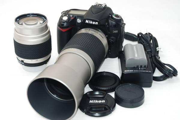 Nikon D90 ボディ ニコン レンズ2本セット  標準ズームレンズ、超望遠レンズ