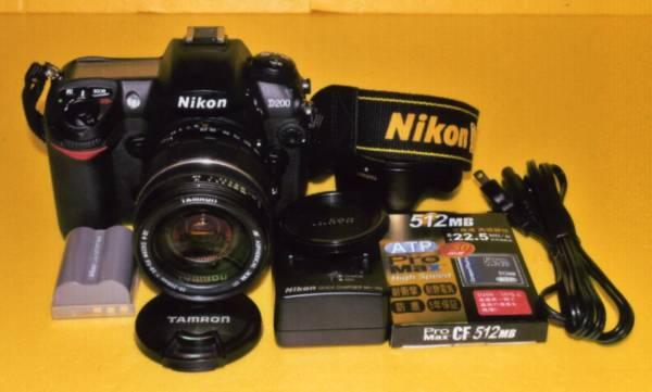 使用感少ない ニコン D200 と タムロン 28-200 XR セット 撮影 再生 確認済 です