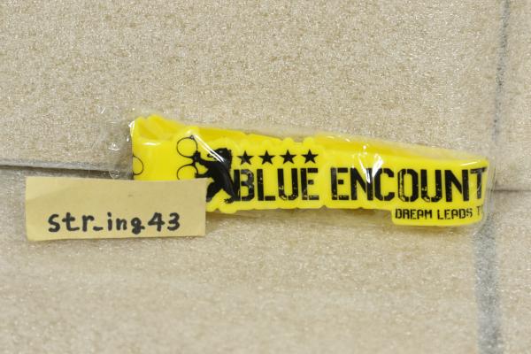 新品 BLUE ENCOUNT ラバーバンド イエローカラー 2016 夏フェス限定 グッズ ブルエン