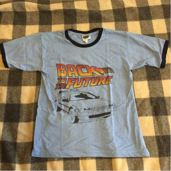 Back to the Future Tシャツ 古着 デロリアン サイズM 映画
