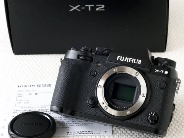 FUJIFILM X-T2 ボディ 新品同様 保証書有 富士フイルム
