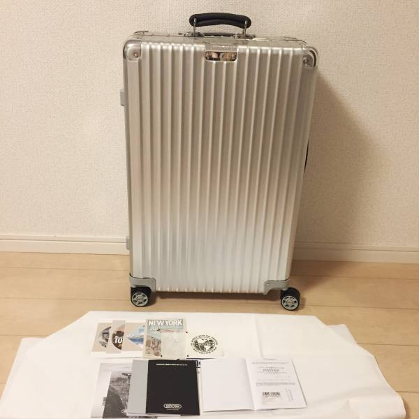 RIMOWA リモワ クラシック スーツケース 63L 新品 美品 袋カバー 保証書あり 説明書類あり おまけシールつき