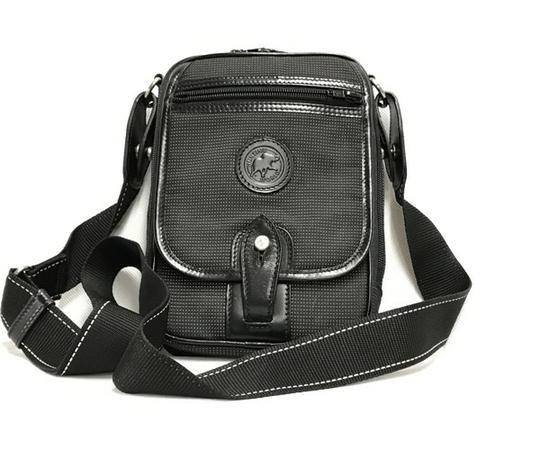 中古 良好品 ハンティングワールド HUNTING WORLD ナイロン ショルダーバッグ バチュー メンズ ブラック 黒 T2556153