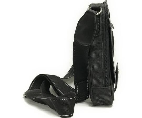 中古 良好品 ハンティングワールド HUNTING WORLD ナイロン ショルダーバッグ バチュー メンズ ブラック 黒 T2556153_画像4