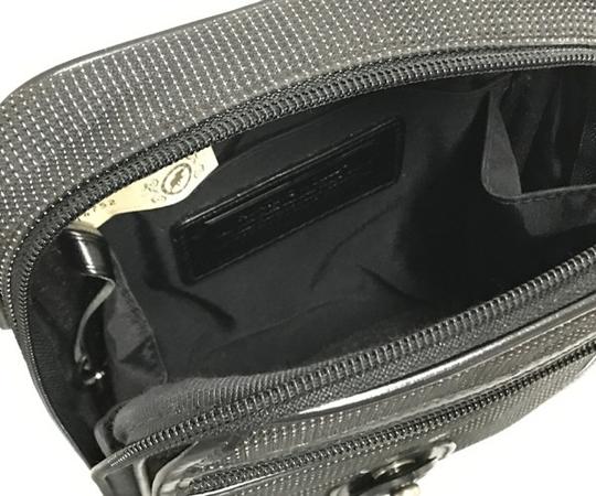 中古 良好品 ハンティングワールド HUNTING WORLD ナイロン ショルダーバッグ バチュー メンズ ブラック 黒 T2556153_画像3