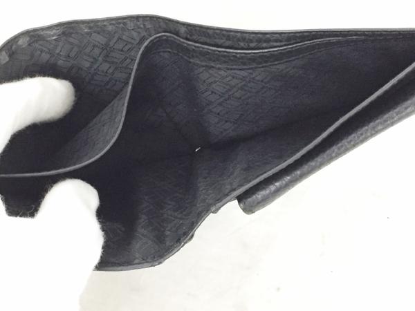 中古 ダンヒル レザー 二つ折り財布 ブラック 黒 メンズ G金具 T2553066_画像4