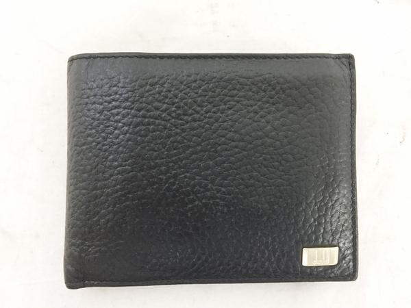 中古 ダンヒル レザー 二つ折り財布 ブラック 黒 メンズ G金具 T2553066_画像2