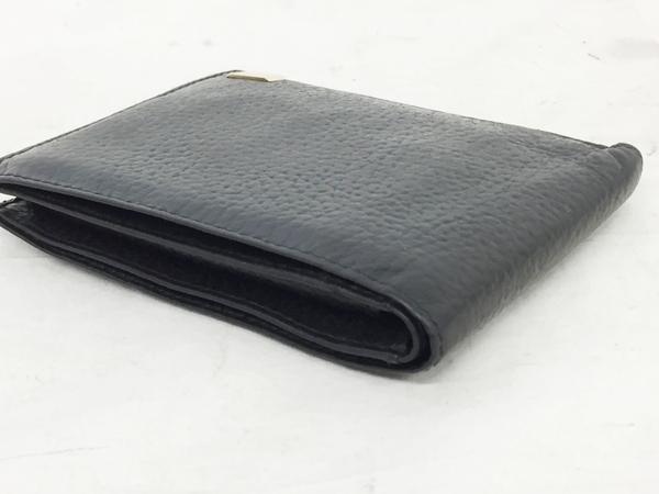 中古 ダンヒル レザー 二つ折り財布 ブラック 黒 メンズ G金具 T2553066_画像7