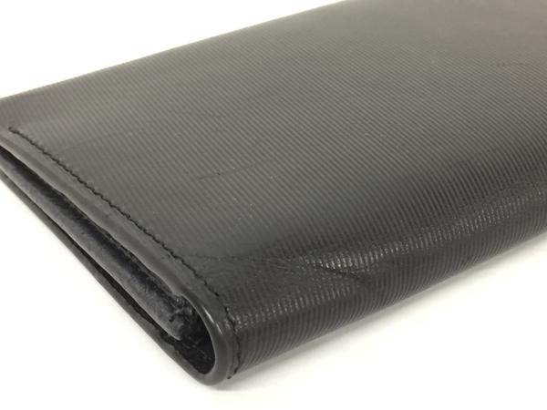中古 calvin klein カルバンクライン レザー 二つ折り長財布 黒 ブラック メンズ G金具 T2541393_画像6