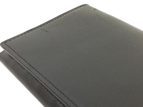 中古 calvin klein カルバンクライン レザー 二つ折り長財布 黒 ブラック メンズ G金具 T2541393_画像5