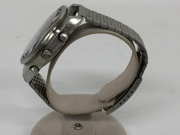 ジャンク SEIKO セイコー5 SPEED TIMER 6139-6030 メンズ 腕時計 ステンレス 自動巻き 黒文字盤 T2551925_画像2