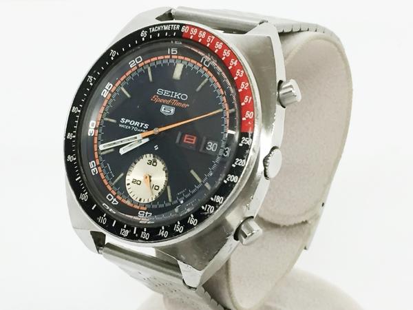 ジャンク SEIKO セイコー5 SPEED TIMER 6139-6030 メンズ 腕時計 ステンレス 自動巻き 黒文字盤 T2551925
