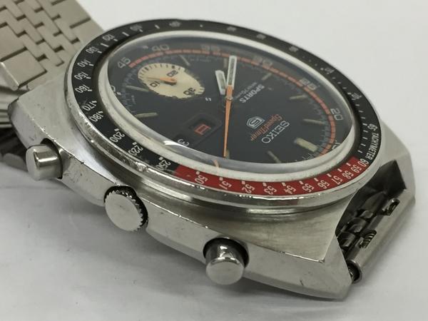 ジャンク SEIKO セイコー5 SPEED TIMER 6139-6030 メンズ 腕時計 ステンレス 自動巻き 黒文字盤 T2551925_画像5