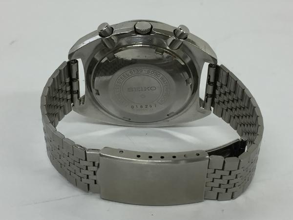 ジャンク SEIKO セイコー5 SPEED TIMER 6139-6030 メンズ 腕時計 ステンレス 自動巻き 黒文字盤 T2551925_画像4
