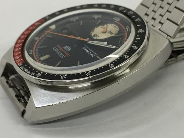 ジャンク SEIKO セイコー5 SPEED TIMER 6139-6030 メンズ 腕時計 ステンレス 自動巻き 黒文字盤 T2551925_画像6
