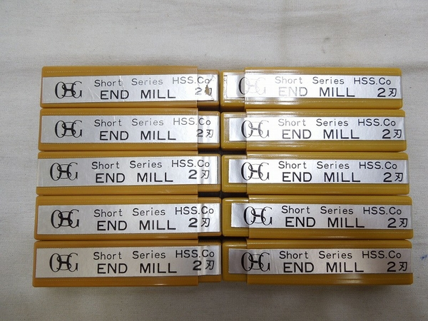 中古 美品 実使用なし OSG エンドミル 7mm 2刃 HSS-co 工具 S2575524_画像4