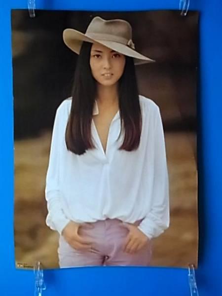 ※ 梶芽衣子 「恨み節」 PRポスター 女優 歌手 (ブルーリボン賞 宣伝 広告 CM) サイズ72x51cm