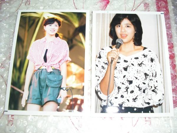 菊池桃子 生写真 x2枚 アイドル時代 当時モノ