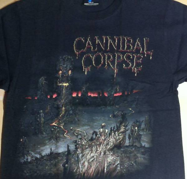 Cannibal Corpse 2014 JAPAN tour A Skeletal Domain Tシャツ Sサイズ 中古 カンニバルコープス
