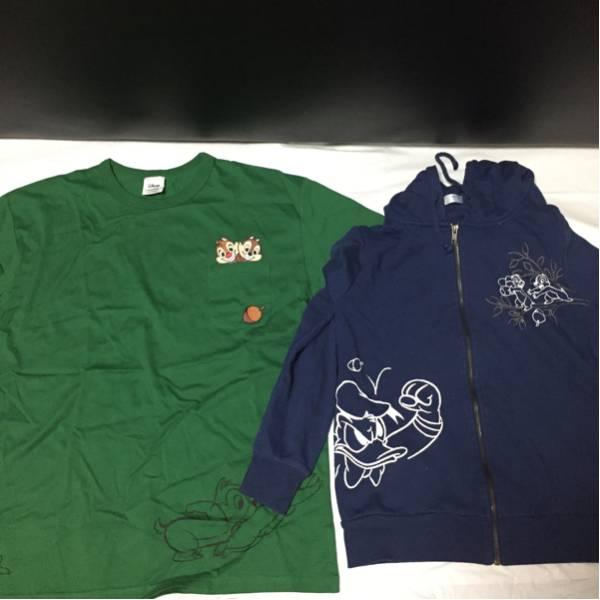 送料無料 まとめ ディズニー ドナルド チップ&デール Tシャツ パーカー セット ディズニーグッズの画像