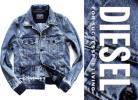 新品6.4万【DIESELディーゼル】イタリア製/明暗が作り上げる洒脱な大人のデニムジャケット※日本サイズL~XL相当