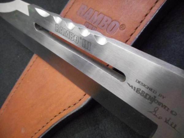 ナイフ ランボー RAMBO 3 ウッドハンドルで革シースです。ムービーナイフ 映画ナイフ_画像3